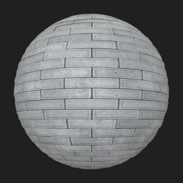 concrete bricks pbr material