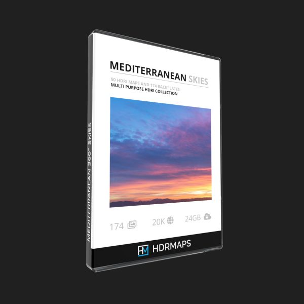 Mediterranean hdri map skies