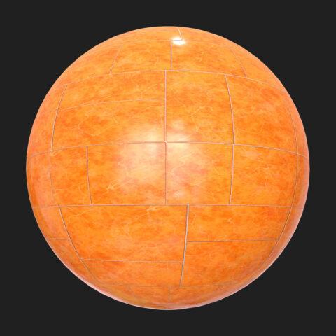 free orange tiles pbr tetxure