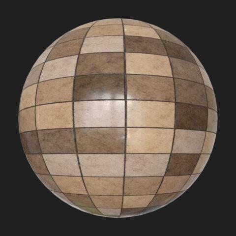 brown random tiles pbr