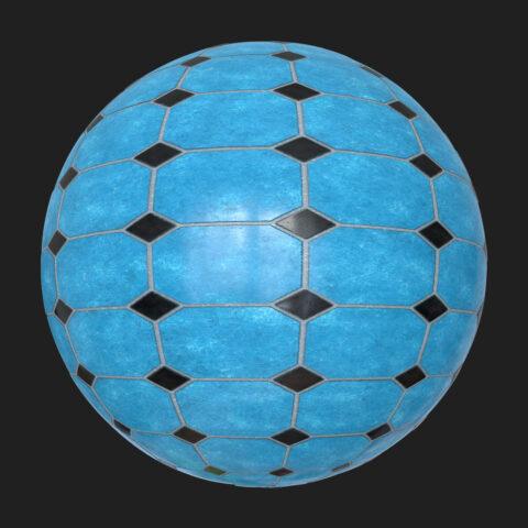 blue black tilles pbr free texture