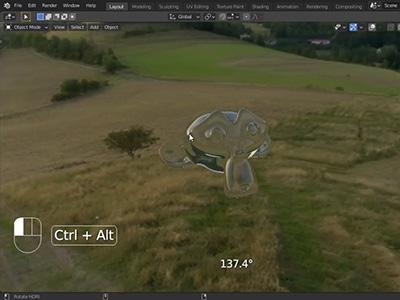 Easy HDRI Map rotation in Blender