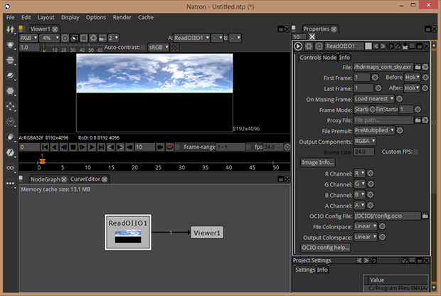 Connect Natron read node to viewer