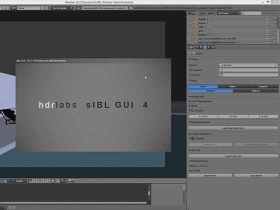 sIBL GUI and Blender setup