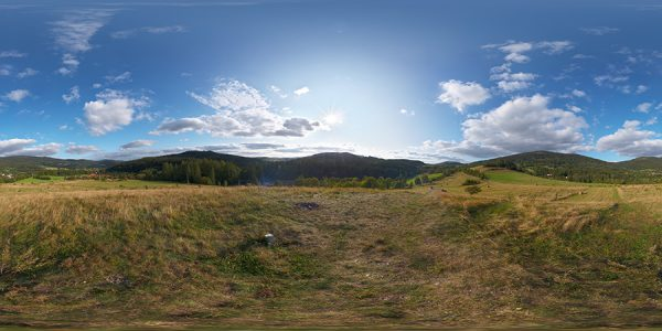 hdri sky in mountains free sample