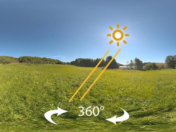 Synchronize Sun light to HDRI in Blender