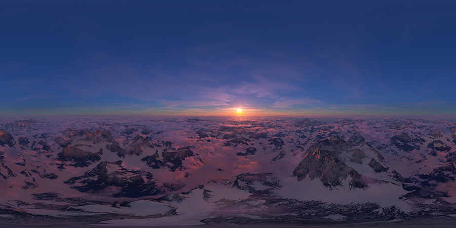 free aerial hdri map sunset