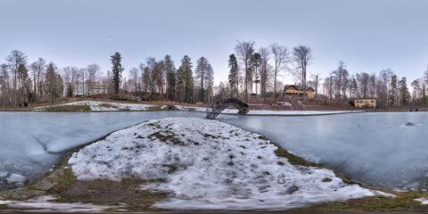 free hdri map park pond frozen