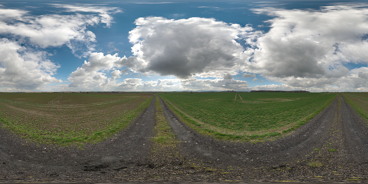 Cloudy hdri sky map