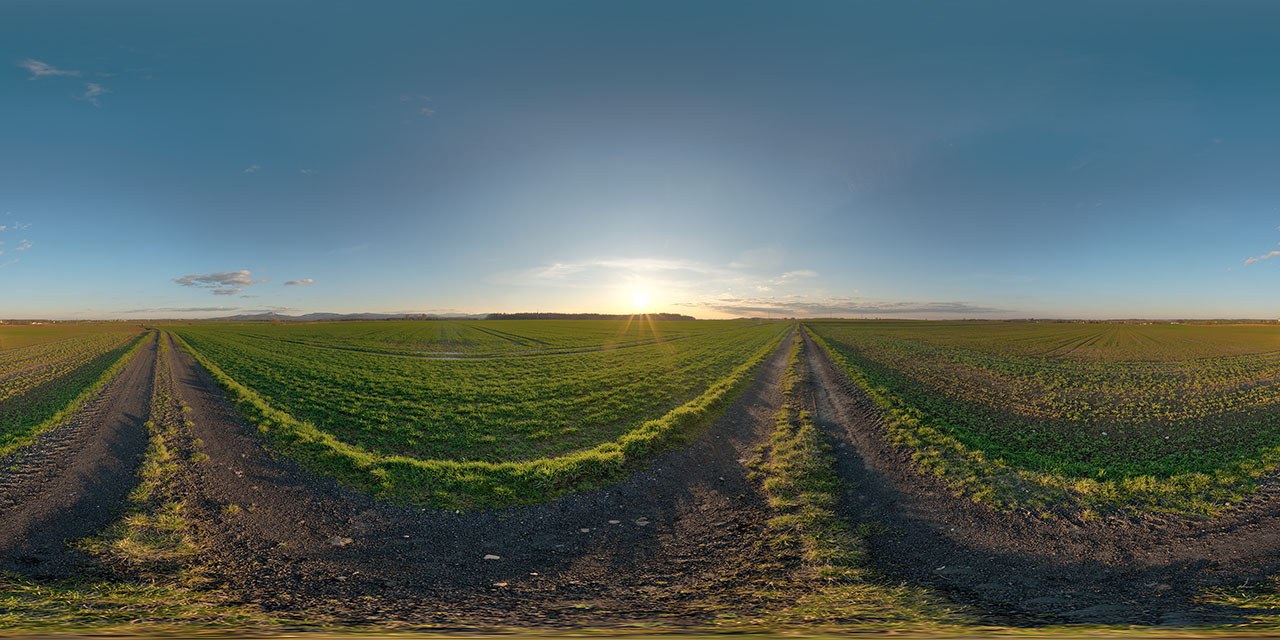 clear sunset hdri map