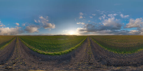 sunset partly cloudy hdri map