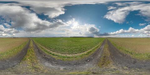 hdri map sky cumulus blue sky