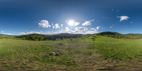 hdri sky map meadow gory sowie