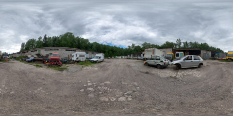 junk yard cars hdri map
