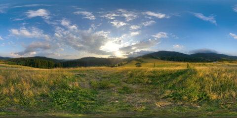 meadow sunset hdri sky