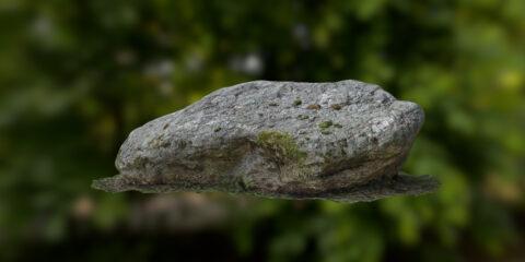 free 3d mossy scan rock